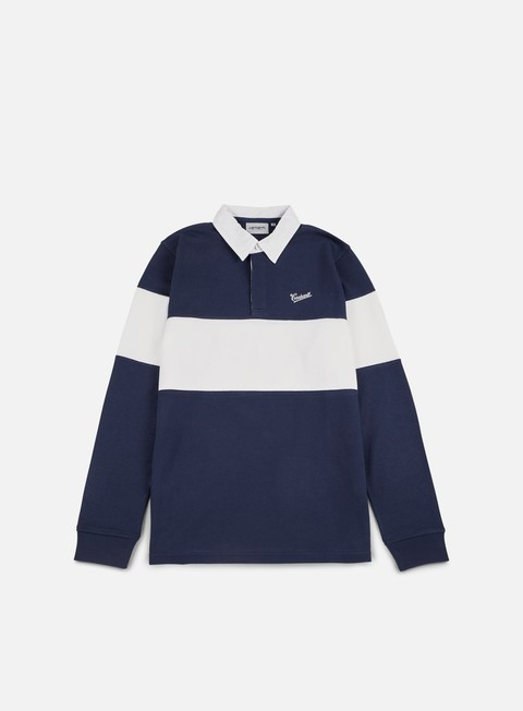 camicie carhartt strike rugby polo shirt blue white