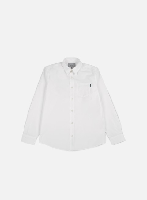 camicie carhartt wesley shirt white