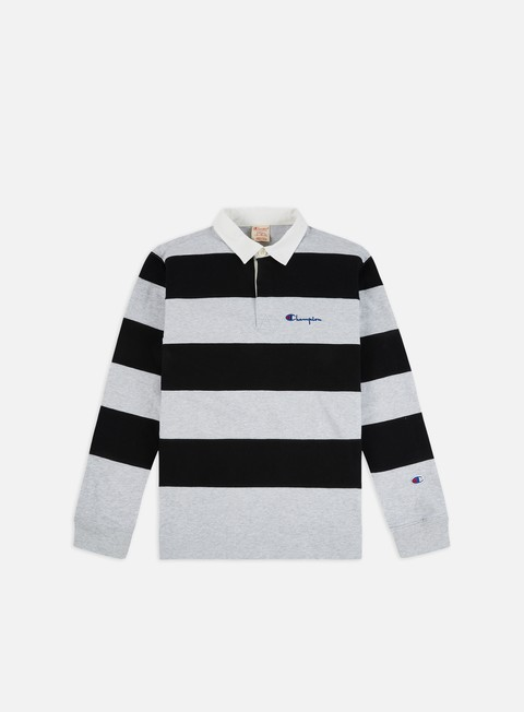 Champion Striped LS Polo Shirt