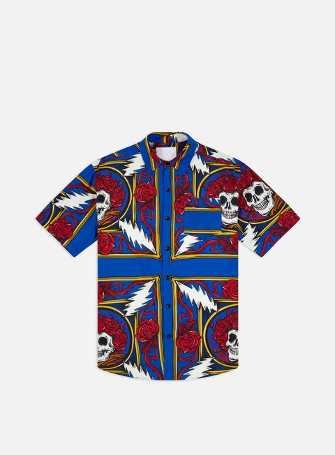 Camicie a Manica Corta Chinatown Market Grateful Dead Border Bandana Button UP SS Shirt