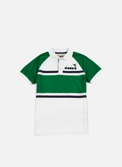 Diadora - 80s Polo Shirt, Green/Super White