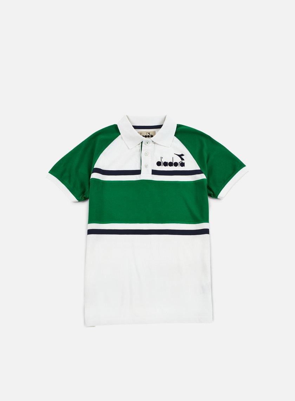 Diadora - 80s Polo Shirt, Green/Super White