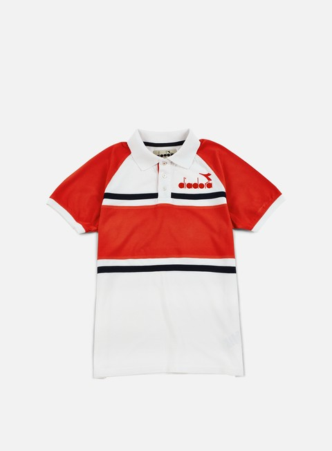 camicie diadora 80s polo shirt super white red