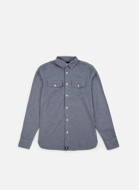 camicie dickies hallstead ls shirt blue