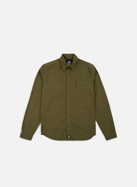 camicie dickies harper ls shirt dark olive