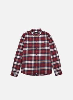 Dickies - Holton LS Shirt, Maroon