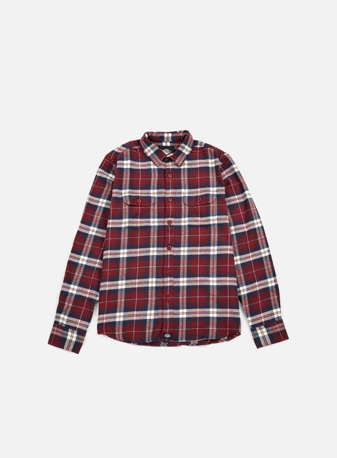 camicie dickies holton ls shirt maroon