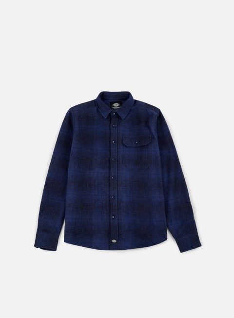 camicie dickies ivyland ls shirt blue
