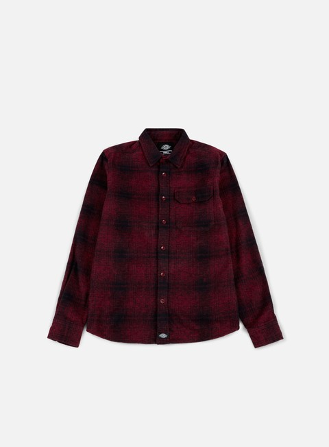 camicie dickies ivyland ls shirt red