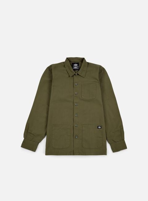 camicie dickies kempton ls shirt dark olive