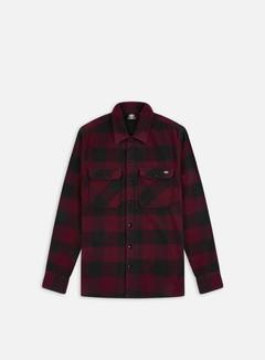 Dickies - Sacramento LS Shirt, Maroon/Black