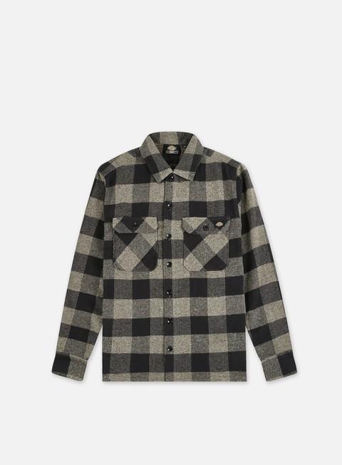 camicie dickies sacramento shirt dark grey melange
