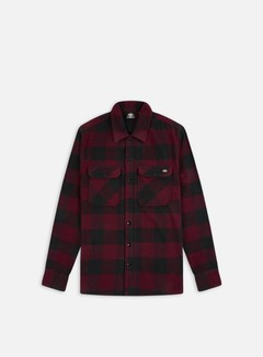 Dickies - Sacramento Shirt, Maroon/Black