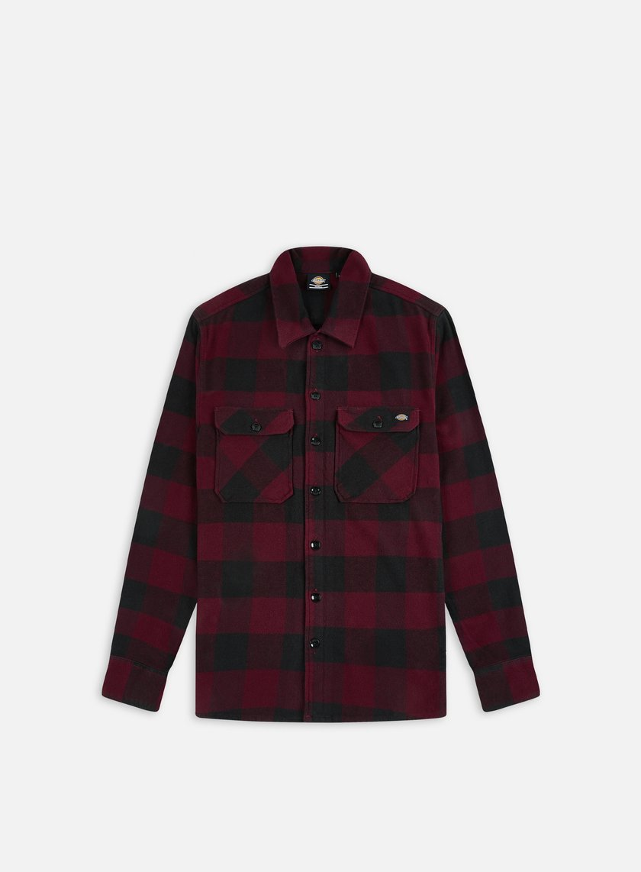 Dickies - Sacramento Shirt, Maroon/Black