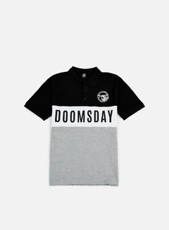 Doomsday - Logo Round Hammerhead Polo Shirt, Black/Grey 1