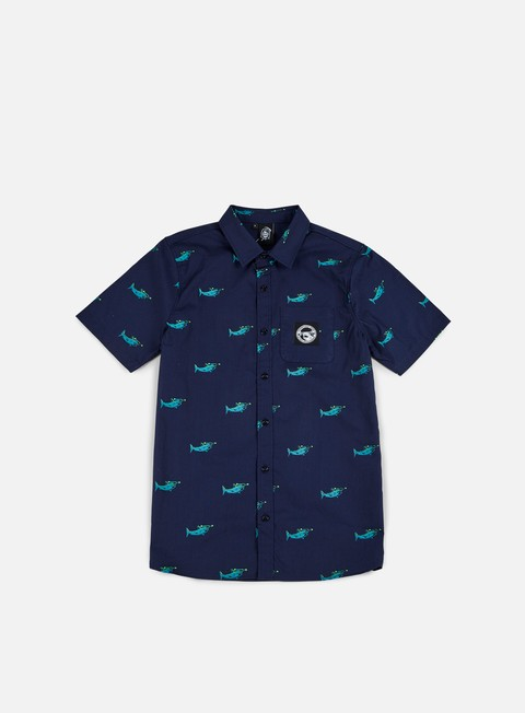 camicie doomsday sharks shirt navy