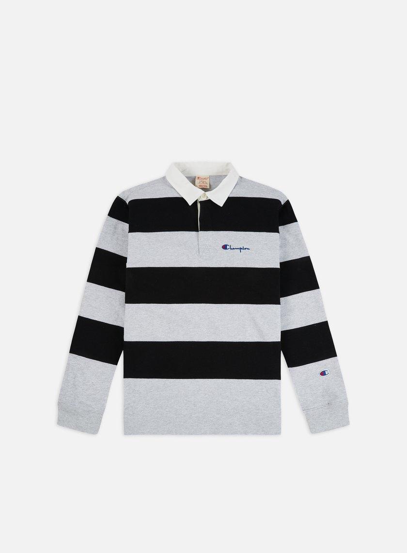 Champion Striped LS Polo Shirt
