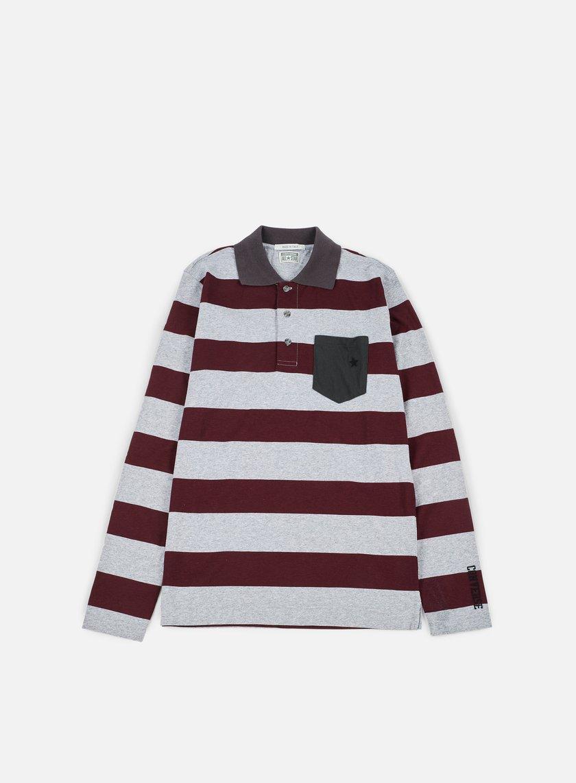 Converse Logo Stripes Long Sleeves Polo Shirt