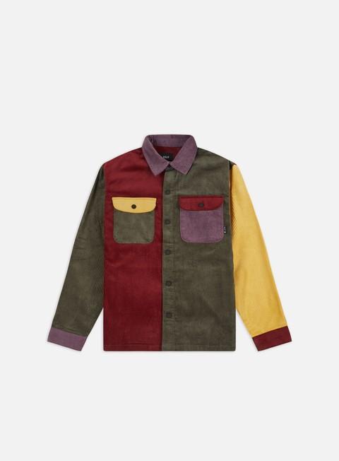 Camicie Huf Cord Block LS Overshirt