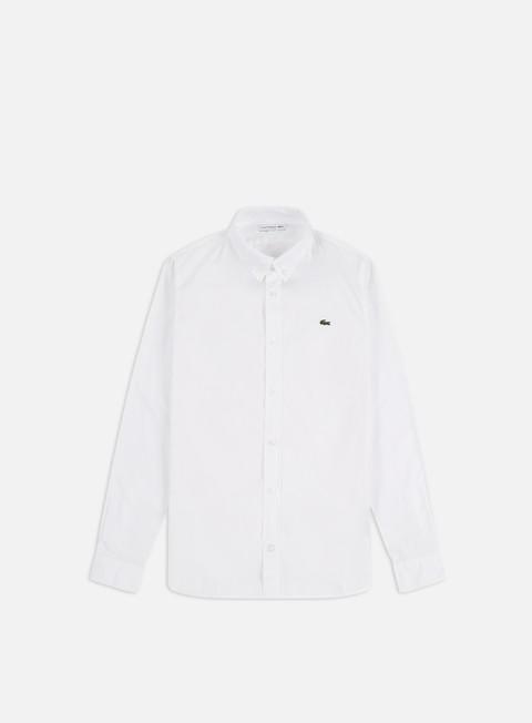 Sale Outlet Shirts Lacoste Cotton Slim LS Shirt