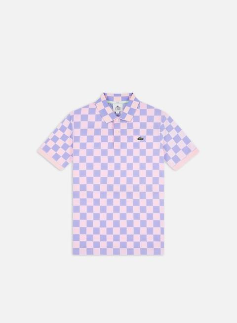 Polo Lacoste Live Checkered Ribbed Collar Polo Shirt