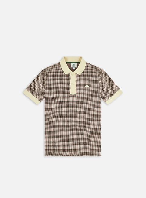 Lacoste Live Ribbed Collar Checkered Polo Shirt