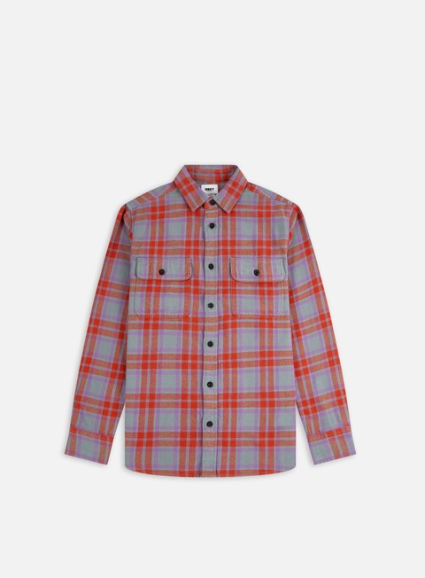 Camicie e polo a manica lunga Obey Divisions Woven LS Shirt