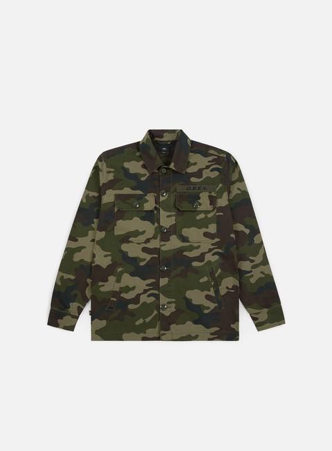 Camicie e polo a manica lunga Obey Station Shirt Jacket