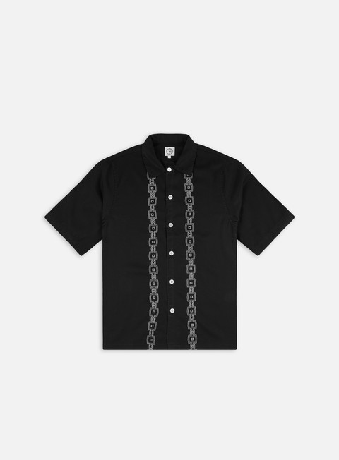 Short sleeve shirts and polos Polar Skate Square Stripe Bowling SS Shirt