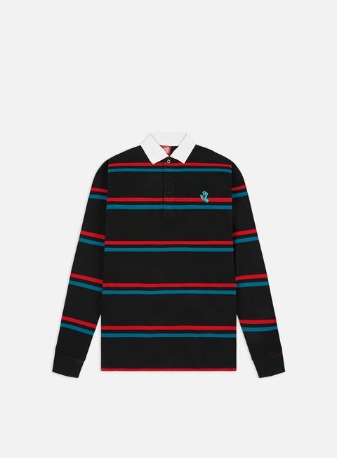 Outlet e Saldi Camicie e polo a manica lunga Santa Cruz Screaming Mini Hand Stripe LS Polo