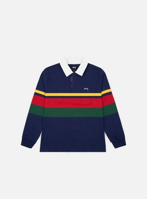 Outlet e Saldi Camicie e polo a manica lunga Stussy Lucas Stripe LS Rugby Polo Shirt