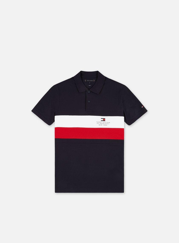 Tommy Hilfiger Chest Stripe Slim SS Polo Shirt