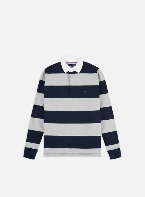 Sale Outlet Long sleeve shirts and polos Tommy Hilfiger Iconic Block Stripe LS Polo Shirt