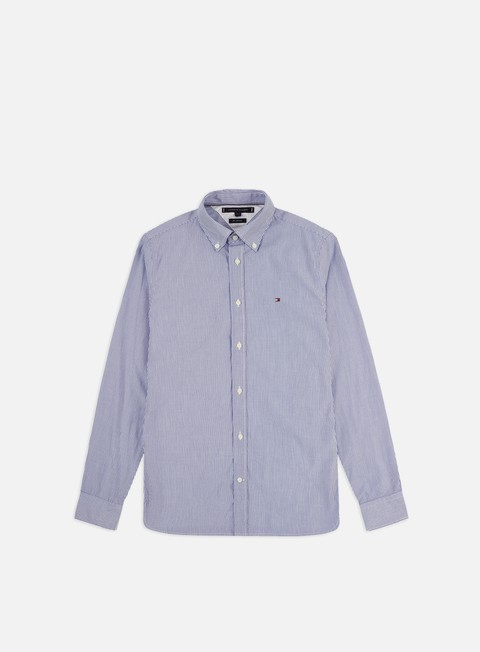 Sale Outlet Long sleeve shirts and polos Tommy Hilfiger Natural Soft Poplin Stripe Shirt