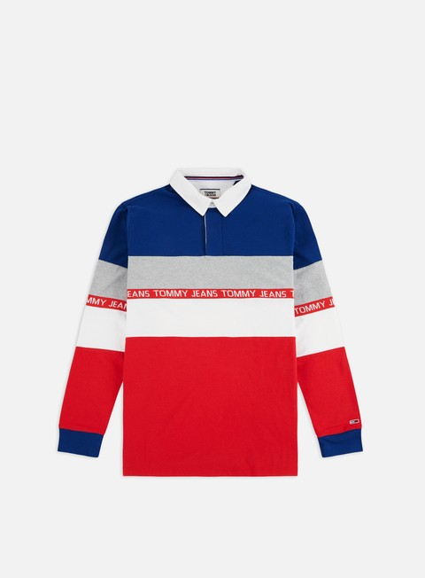 Sale Outlet Long sleeve shirts and polos Tommy Hilfiger TJ Colorblock Rugby LS Polo Shirt