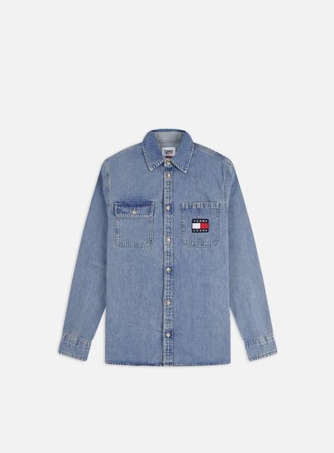 Sale Outlet Long sleeve shirts and polos Tommy Hilfiger TJ Denim Badge LS Shirt