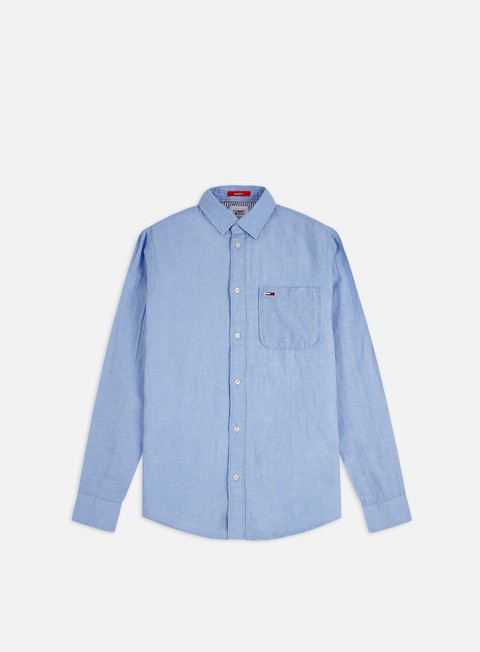 Sale Outlet Shirts Tommy Hilfiger TJ Linen Blend LS Shirt