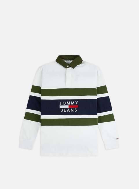 Sale Outlet Long sleeve shirts and polos Tommy Hilfiger TJ Panel Rugby Polo LS Shirt