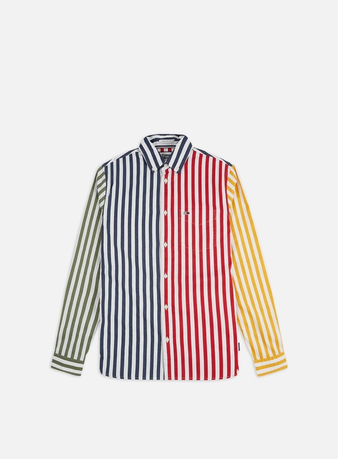 Sale Outlet Long sleeve shirts and polos Tommy Hilfiger TJ Stripe Mix Twill Shirt