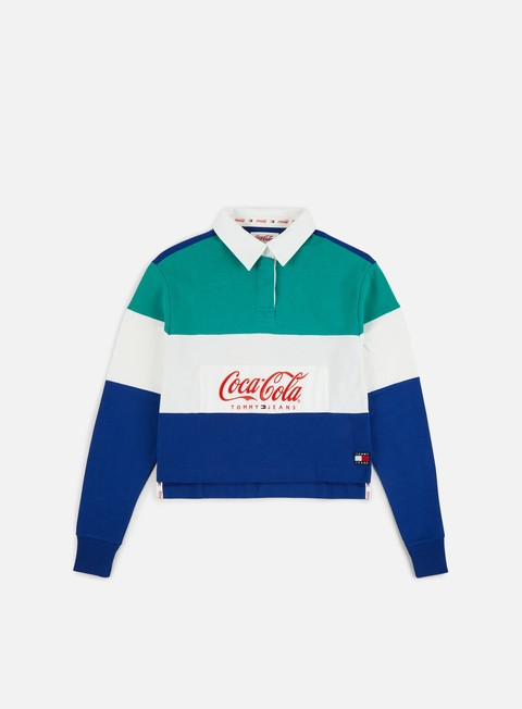 Sale Outlet Long sleeve shirts and polos Tommy Hilfiger WMNS TJ Tommy x Coca Cola Rugby Polo LS Shirt