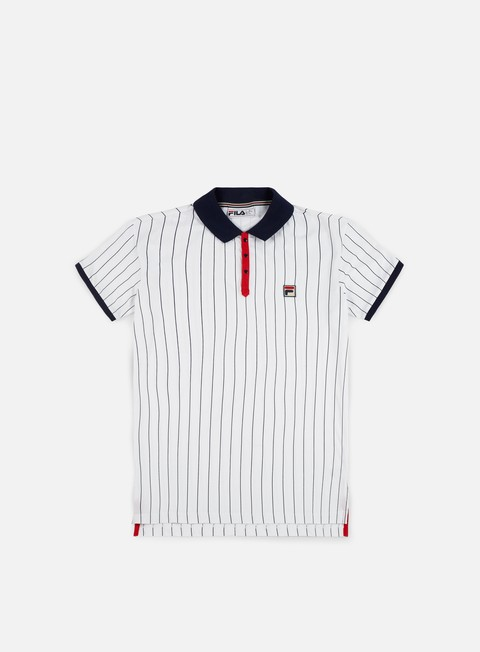 camicie fila bb1 polo shirt white navy red