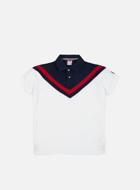 camicie fila insert ss polo shirt white