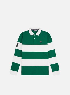 Fila - Talmai LS Polo Shirt, Blanc De Blanc/Shady Glade