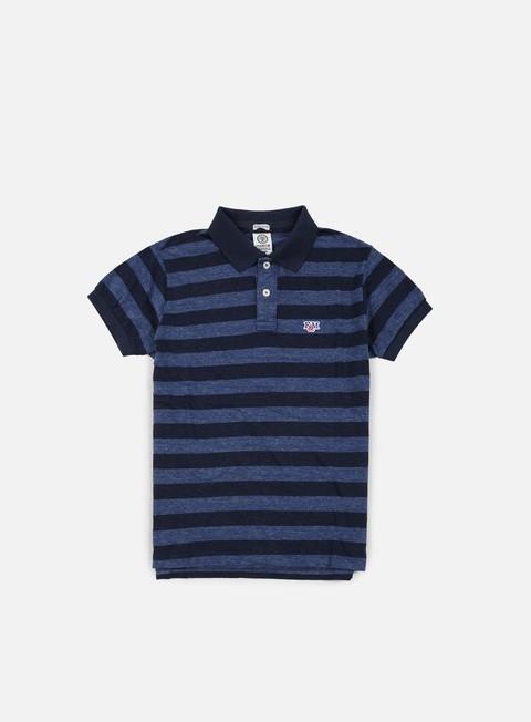 camicie franklin e marshall jersey classic polo blue melange