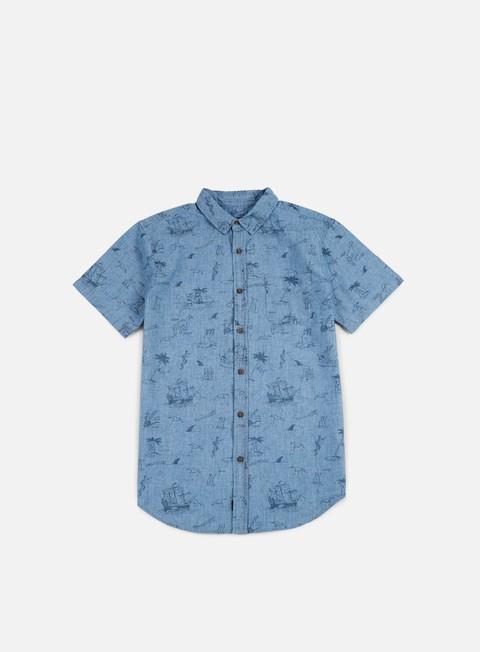 camicie globe creswick ss shirt indigo