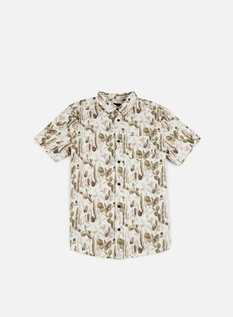 camicie globe desert bloom ss shirt blanc