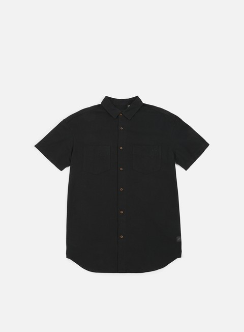 camicie globe dion reflection ss shirt washed black