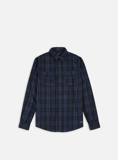 camicie globe flanigan ls shirt marine