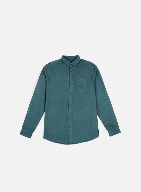 camicie globe goodstock vintage ls shirt marine