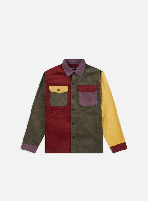 Long Sleeve Shirts Huf Cord Block LS Overshirt